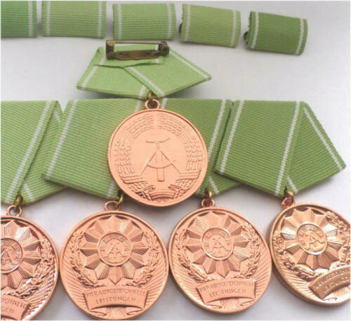5x socialist East german medal Interior ministery Home Affairs for Police Prison
