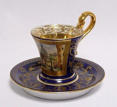 Porzellan Kaffee- bzw. Teetasse mit Untertasse Tasse
