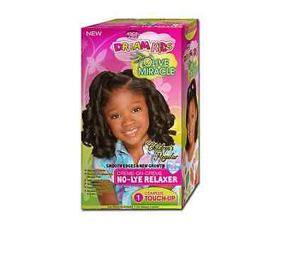 African Pride Dream Kids olive Miracle No-Lye RElaxer Touch up Kit Regular  (African Pride Relaxer Kit)