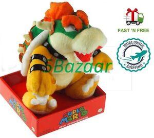 Official Nintendo Super Mario Bros Bowser King Plush Toy Teddy 10