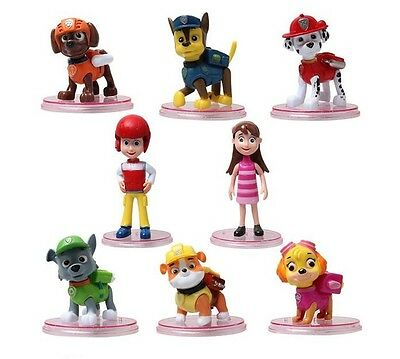 Paw Patrol Ryder Puppies Playset 8 Figure Cake Topper * USA SELLER* Toy Doll Set