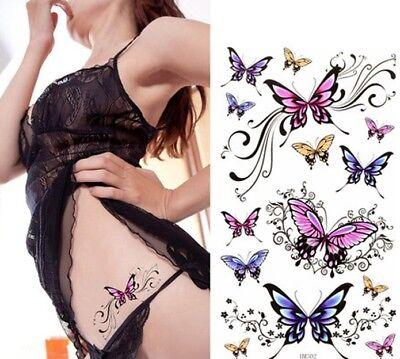 �re Bunte Schmetterlinge Tattoos Entfernbare Körperkunst  (Bunter Schmetterling Tattoos)