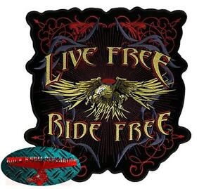 EAGLE-RIDE-FREE-INDIETRO-Patch-Toppa-MOTOCICLISTA-Rocker-Aquila-Harley-USA
