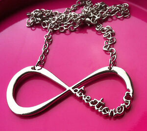 Love One Direction 1D Directioner Infinity Necklace Silver + Free Gift Bag