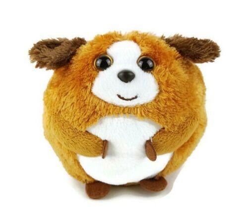 "Ty Beanie Ballz Bandit 5"" Plush Brown White Round Dog Stuffed Animal Toy"