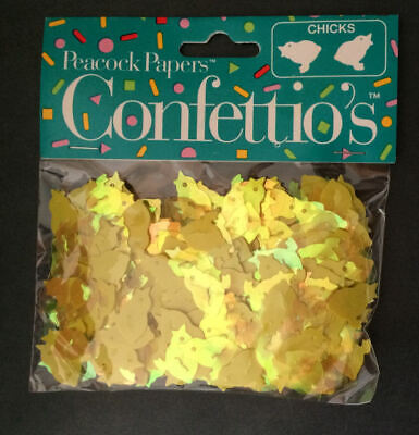NEW Easter Confetti Confettios Chicks solid & translucent yellow *BOGO 50% - Easter Confetti