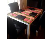 Customised Dinning table with 4 chairs