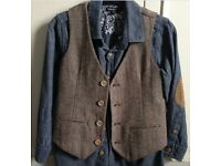 M&S autograph shirt and waistcoat Age 7-8