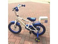 """Boys Apollo Police Bike 14"""" Wheels with stabilisers - Great Condition"""