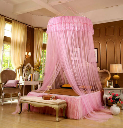 Kids Bed Canopy Bedcover Hanging Dome Mosquito Net Curtain Bedroom Decor