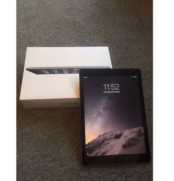 IPAD AIR 32GB SPACE GREY WITH SMART COVERin Leicester, LeicestershireGumtree - IPAD AIR 32GB SPACE GREY WITH SMART COVER As good as new with original box ,charger and USB cable and case from day one have had this iPad in a case with a screen protector,as new no scratches or no mark.used few months ,I am selling it because I...