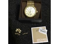 Men's Michael Kors Oversized watch, Gold, Boxed with Warranty