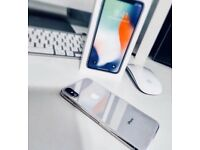 Apple iPhone X Silver 64gb with 9 month apple waranty