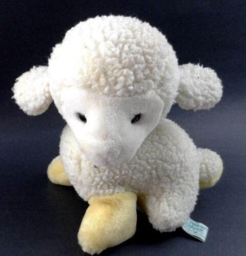 PAF Musical Lamb Sheep Westcliff Collection Plays Brahms Lullaby Vintage Plush