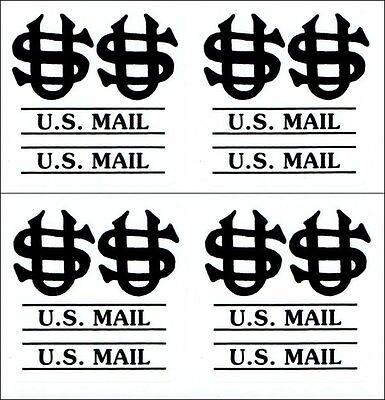 Us Mail Post Office Box Door Decals Black