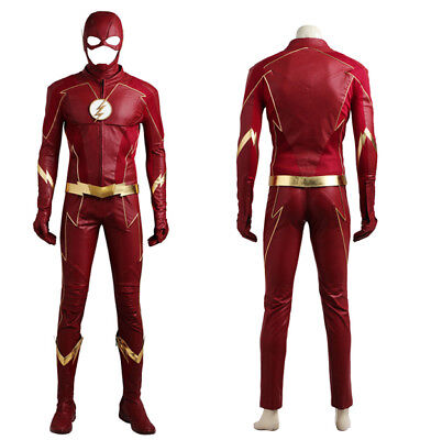 The Flash Season 4 Cosplay Barry Allen Costume Men Halloween Superhero Outfit