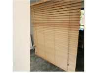 Wooden Venetian Blinds (x 3) for Bay Window.