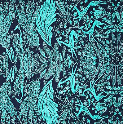 2 Amy Butler Fabric - By 1/2 Yard ~ Amy Butler Cotton Fabric ~ Bright Heart Oh Deer in Navy