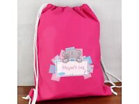 Personalised me to you pink swim and kit bag