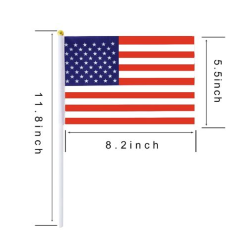 Set of 12 Small American Flags 4x6 Inch//Small US Flag//Mini American Stick Flag