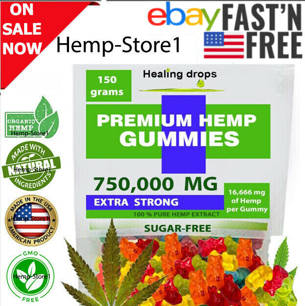 Premium 750,000 MG Hemp-Gummies for Stress & Anxiety Relief Edibles Mood Support