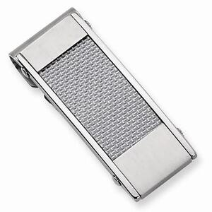 Chisel-Stainless-Steel-Grey-Carbon-Fiber-Mens-Gift-Designer-Slim-Money-Clip
