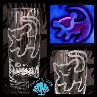 Personalised Disney Simba, The Lion King Glass Handmade Gift FREE Name Engraved