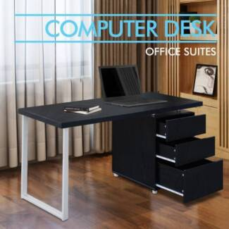 Office Computer Desk Table Home Metal Student Study 3 Drawer Cabi