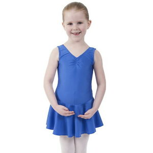 MIA NYLON LYCRA DANCE BALLET SKIRTED LEOTARD WITH SKIRT ISTD DRESS COSTUME