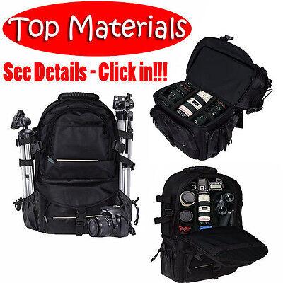 Universal DSLR SLR Camera Large Backpack Bag for Nikon Canon Sony Black
