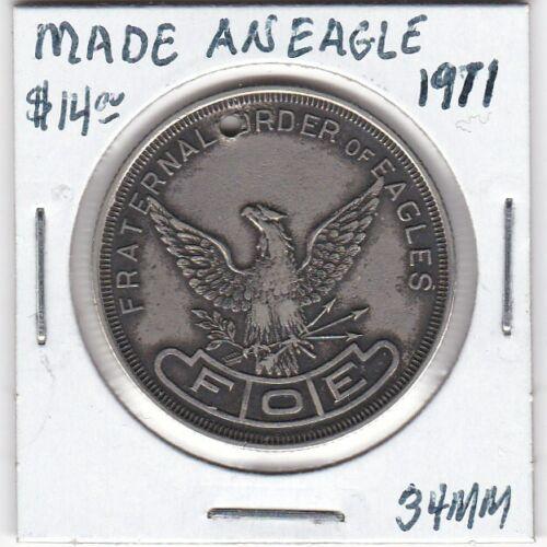Grand Rapids, MI - Fraternal Order of Eagles - Made an Eagle - 1911 - 34 MM
