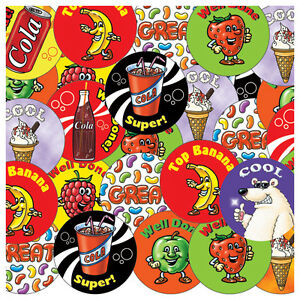 CP21 - Pack of 280 Mixed Scented Stickers (£1.25 per sheet) 8 Fragrances