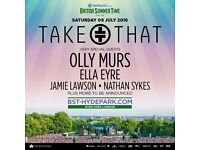 Take That - BST Hyde Park - Saturday 9th July - Diamond Circle - TOP TICKETS - List Price