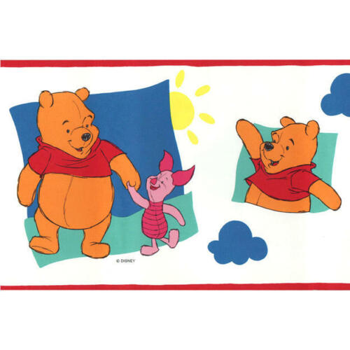 "(2) Borden Winnie the pooh ""Friendship Pooh"" Decorative Border - 5 Yards each"