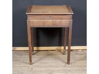 19thC Mahogany School Master's Desk