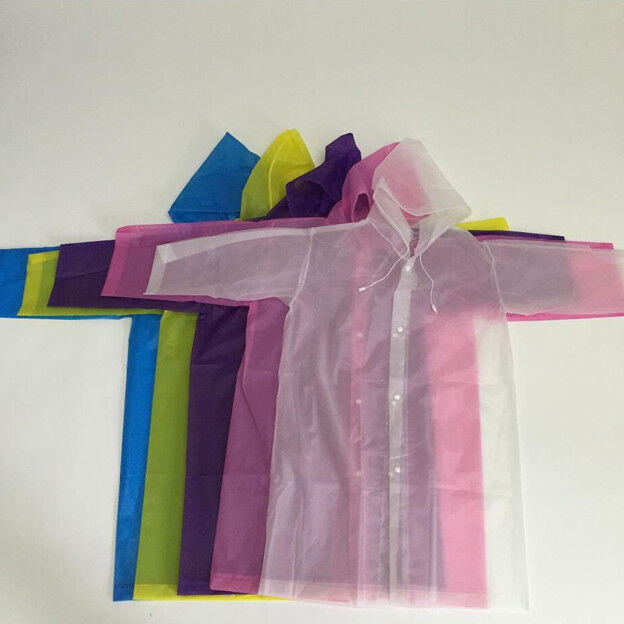 Reusable Girl Raincoat Children Rain Poncho Rainsuit Rainwea
