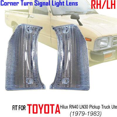 Corner Lights Lens - x2 FRONT CORNER TURN SIGNAL LIGHTS LENS TOYOTA HILUX RN40 LN30 PICKUP TRUCK UTE