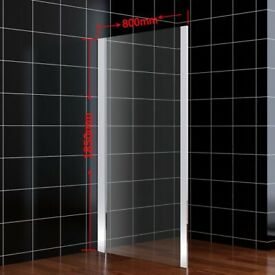 Side Panel For Framed Shower Doors & Cubicles 6mm Tempered Glass (Height-1850mm) BNIB