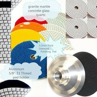 4 Polishing 215 Pad 10 Aluminum Backer Granite Marble Concrete Floor Countertop