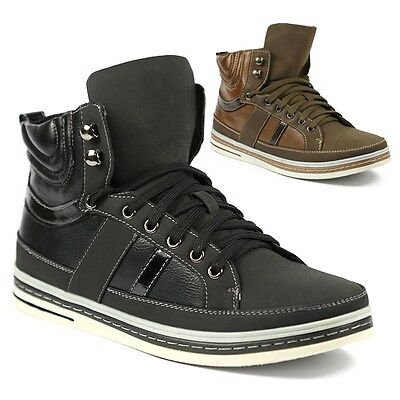 Delli Aldo Mens High Top Lace Up Fashion Sneakers Ankle Boots Shoes