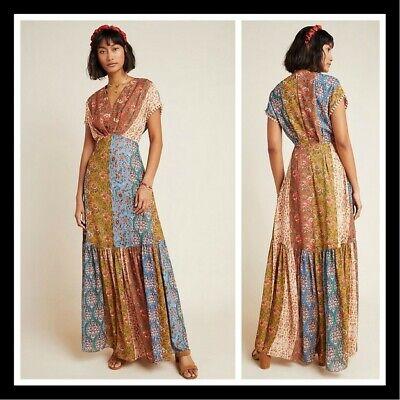 NWT Anthropologie Sachin & Babi Angelica Maxi Dress Patchwork Floral 8 $275