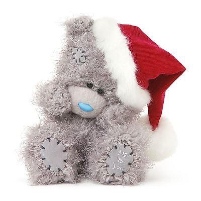 "Me to You 5"" Bear & Santa Red Hat Christmas Plush - Tatty Teddy"