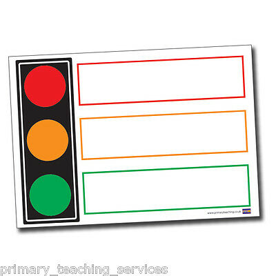 DP34 - A1 Traffic Light Poster Teachers Classroom Primary Teaching Services