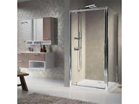 Shower enclosure door, 800mm wide, left hand pivot