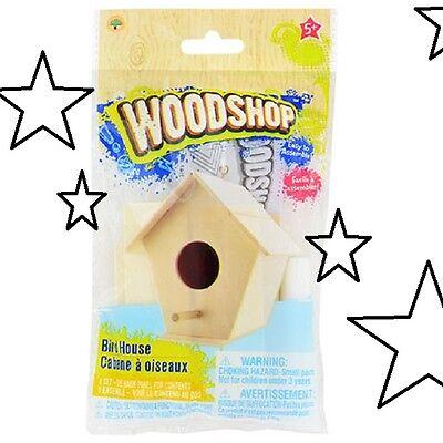 DIY Woodshop Wooden Bird House Kit Craft Hobby Grandpa PaPa Fun w/ Grandchildren