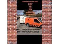 Roofing, brickwork, groundwork, plastering, joinery, remodel kitcehns