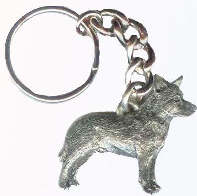 Australian Cattle Dog Keychain Keyring Harris Pewter Made USA Key Chain