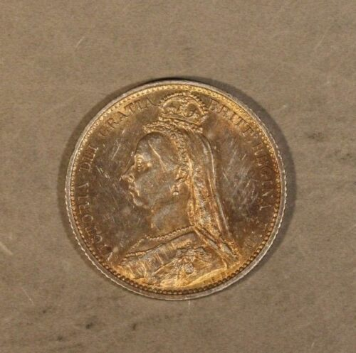 1887 Great Britain Silver 6 Pence Very Nice         ** FREE U.S. SHIPPING **