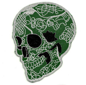 ecusson patch t te de mort mexicaine calavera tattoo chicanos tatouage mexique ebay. Black Bedroom Furniture Sets. Home Design Ideas