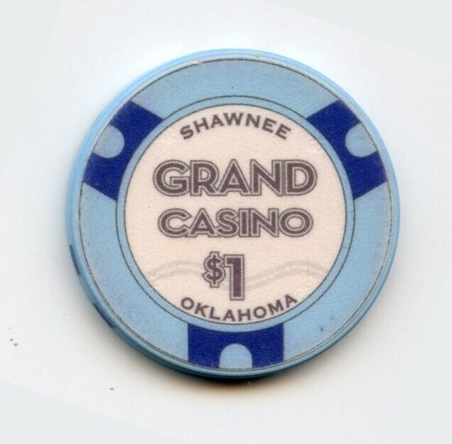 1.00 Chip from the Grand Casino in Shawnee Oklahoma Game On Mfg